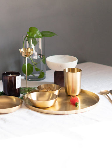 Heirloom Brass Tumbler - Fleck
