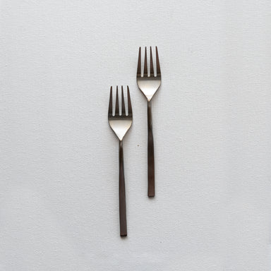 Fleck's modern flatware sets of two fork made with stainless steel