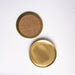 Brass coasters with cork backing by fleck, stackable