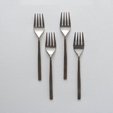 Fleck's modern flatware sets of 4 fork made with stainless steel