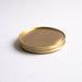 Brass coasters by fleck, stackable