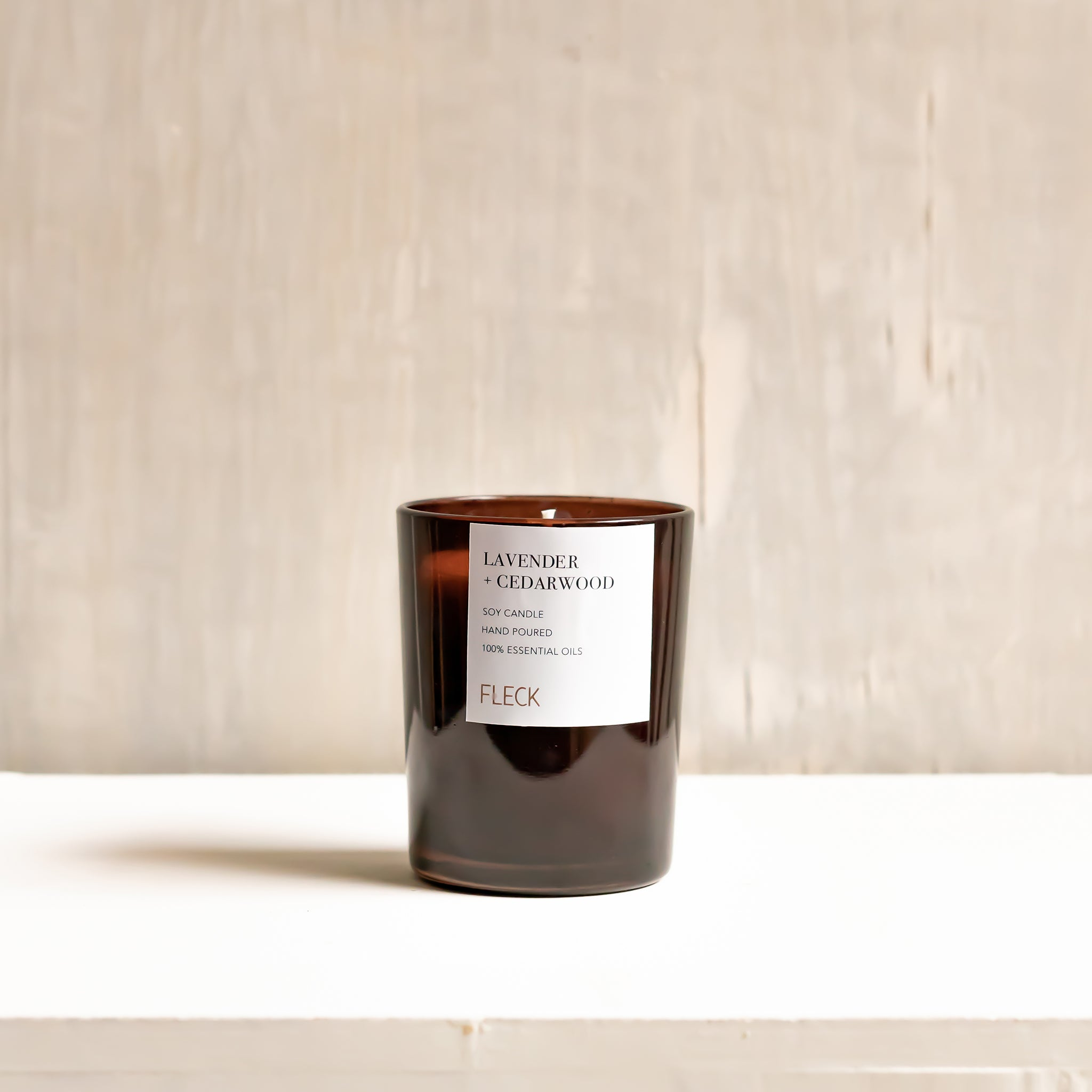 Lavender + Cedarwood | 100% soy wax candle | Large