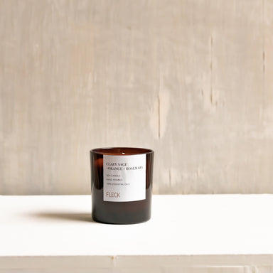 Clary Sage + Orange + Rosemary | 100% soy wax candle | Small