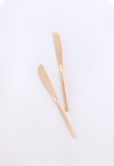 Wabi Dinner Knives, Brass - Fleck
