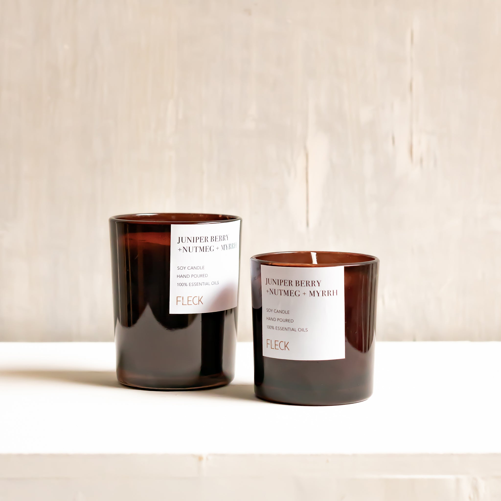 Juniper Berry + Nutmeg + Myrrh | 100% soy wax candle | Small