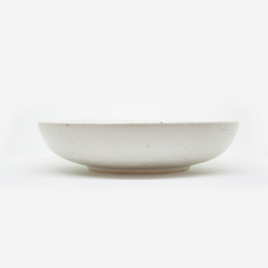 Speckled whited ceramic handmade bowl