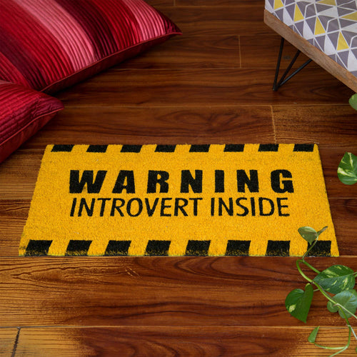 'Introvert Inside' Doormat