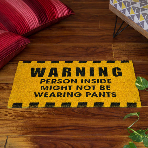 'Not Wearing Pants' Doormat