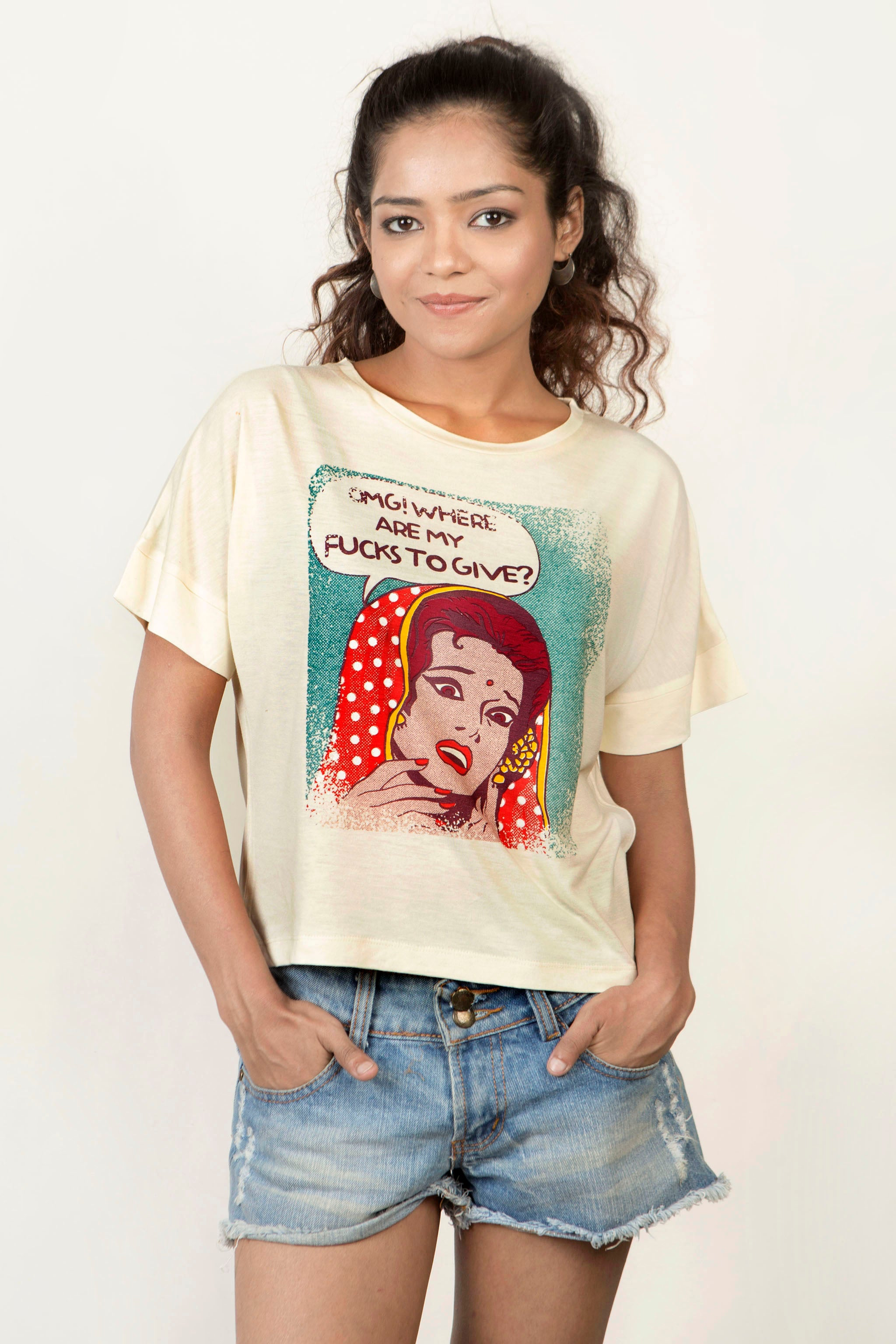 Buy OMG! Where are my fucks to give? Women's T-Shirt Online In India
