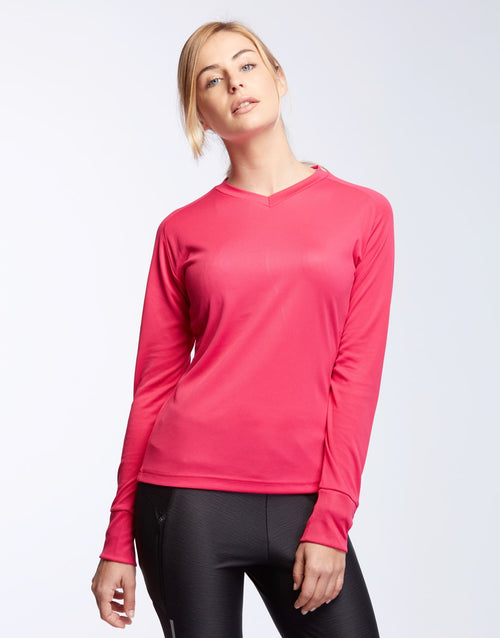 T-Shirt running femme manches longues 140g FOULEES