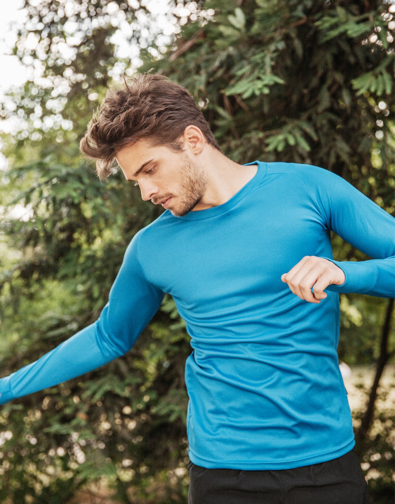 T-Shirt running homme manches longues 140g TRAIL