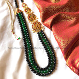Three layer agate beads Kemp stones Haram neckpiece (colors available)