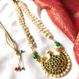 Megha - with pearl strands