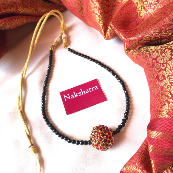 Rudraksha pendant single layer choker