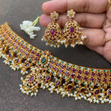 Matte Gutapusalu high raise bridal grand choker set