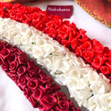 Satin flower hair accessories
