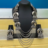 German silver grand Ganesha layered haram set