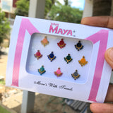 Stone bindis with design (colors available)