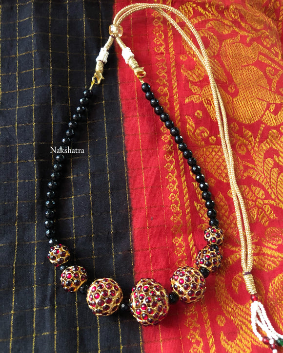 Rudraksha kemp stones choker neckpiece (colors available)