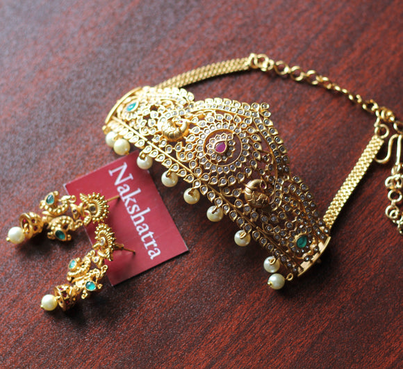 Matt gold high quality grand choker set