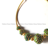 Rudraksha Kemp beads pipe choker neckpiece (colors available)