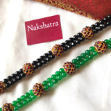 Rudraksha kemp beads two layer choker neckpiece