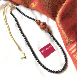 Kemp Rudraksha balls single layer agate beads neckpiece