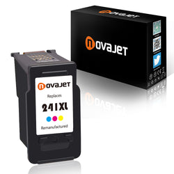 Novajet Remanufactured For Canon CL-241 241 XL High Yield (1*Tricolor) Ink Cartridge for Canon PIXMA MG2120 MG3122 MG3222 MG3522 MX372 MX432 MX452 MX459 MX472 MX479 MX512 - NOVAJET