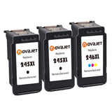 Novajet Remanufactured For Canon PG-245XL CL-246XL 245 XL 246 XL Ink Cartridge (2*Black 1*Tricolor) For Canon Pixma iP2820 MX490 MX492 MG2420 MG2920 MG2520 MG2525 MG2555 MG2922 MG2924 MG3020 Printer - NOVAJET
