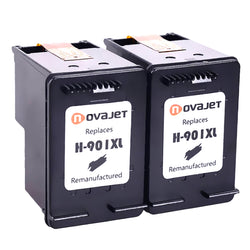 Novajet Remanufactured HP 901XL 901 XL (2 Black) Ink Cartridge Replacement CZ722FN CC654AN CC656AN For HPOfficejet 4500, 4500 G510a 4500 G510g 4500 G510n J4500 J4640 J4660 J4680 Printer 2 Pack - NOVAJET