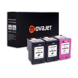 Novajet Remanufactured HP 901XL 901 XL (2*Black 1*Tricolor) Ink Cartridge Replacement CZ722FN CC654AN CC656AN For HPOfficejet 4500, 4500 G510a 4500 G510g 4500 G510n J4500 J4640 J4660 J4680 Printer 3 Pack - NOVAJET