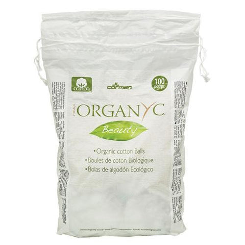 Organyc Cotton Balls - 100 Percent Organic Cotton - Beauty - 100 Count