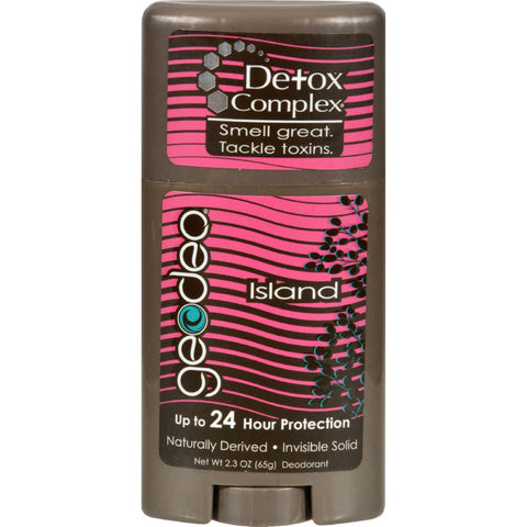 Geo-deo Natural Deodorant Stick With Detox Complex Island - 2.3 Oz
