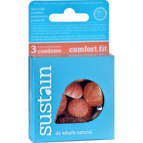 Sustain Condoms Comfort Fit - 3 Pack