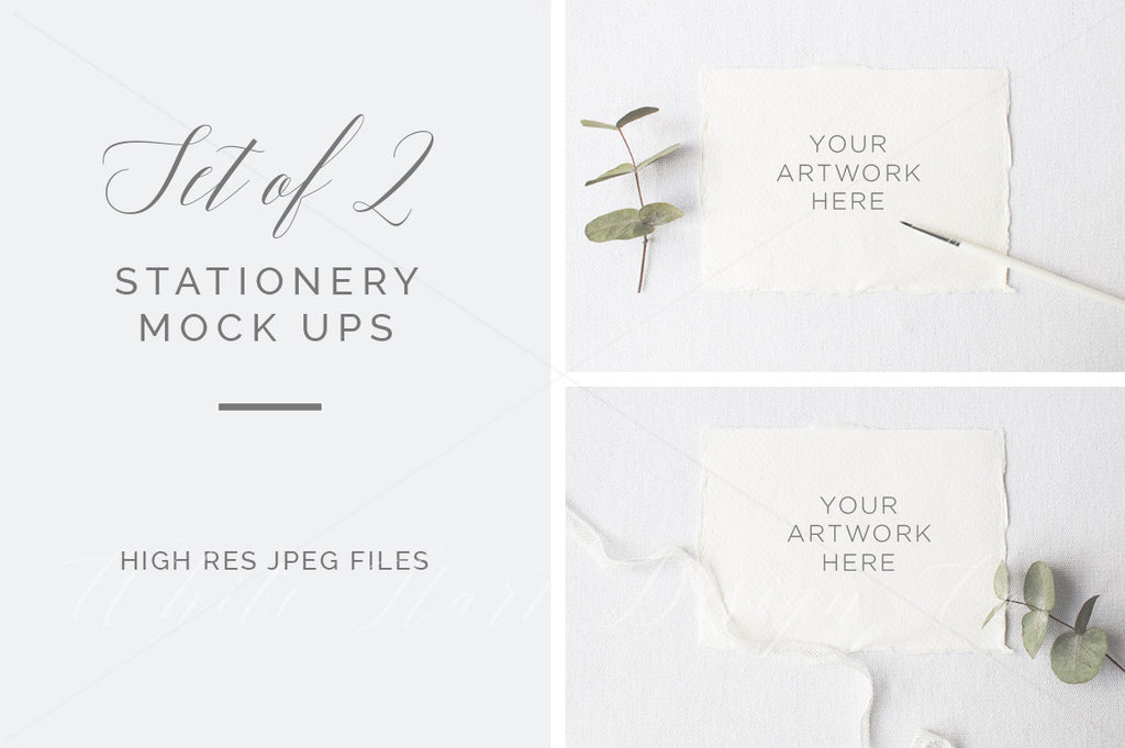 Set of 2 stationery mock ups - High res jpeg files only