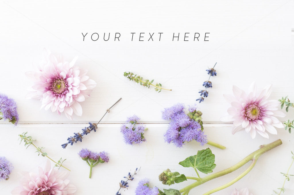 Floral styled stock photo - Rustic summery flatlay