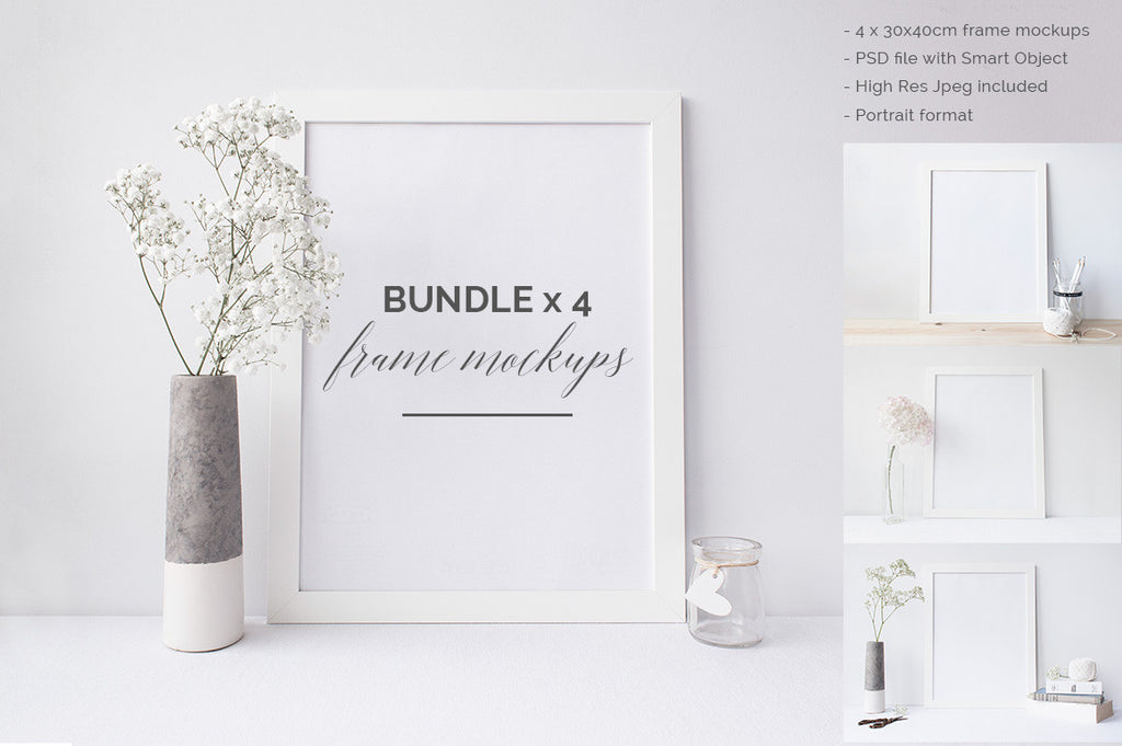 The 30x40cm Frame mock up BUNDLE
