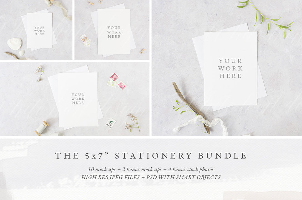 "BUNDLE: The 5x7"" stationery mock up pack"