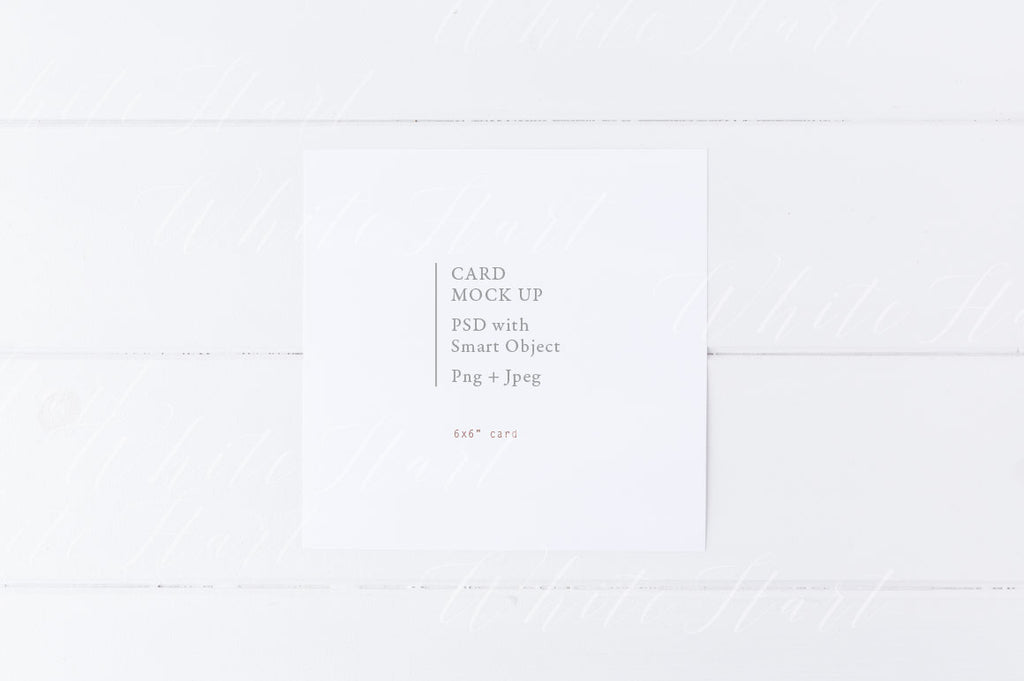 "6x6"" minimal styled stationery mock up"