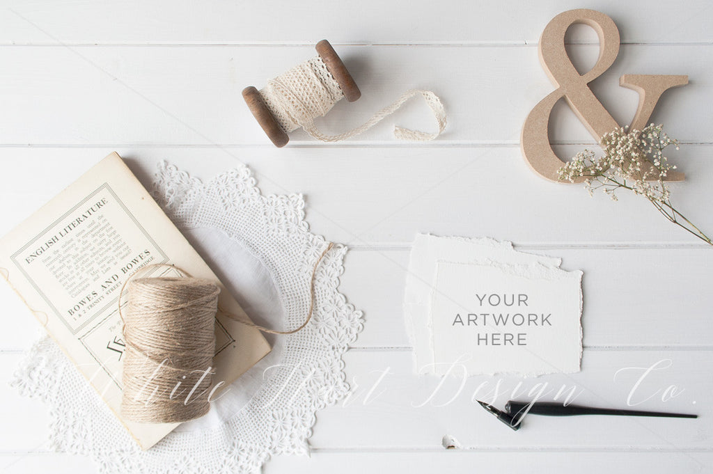 Styled Rustic flatlay Stock photography