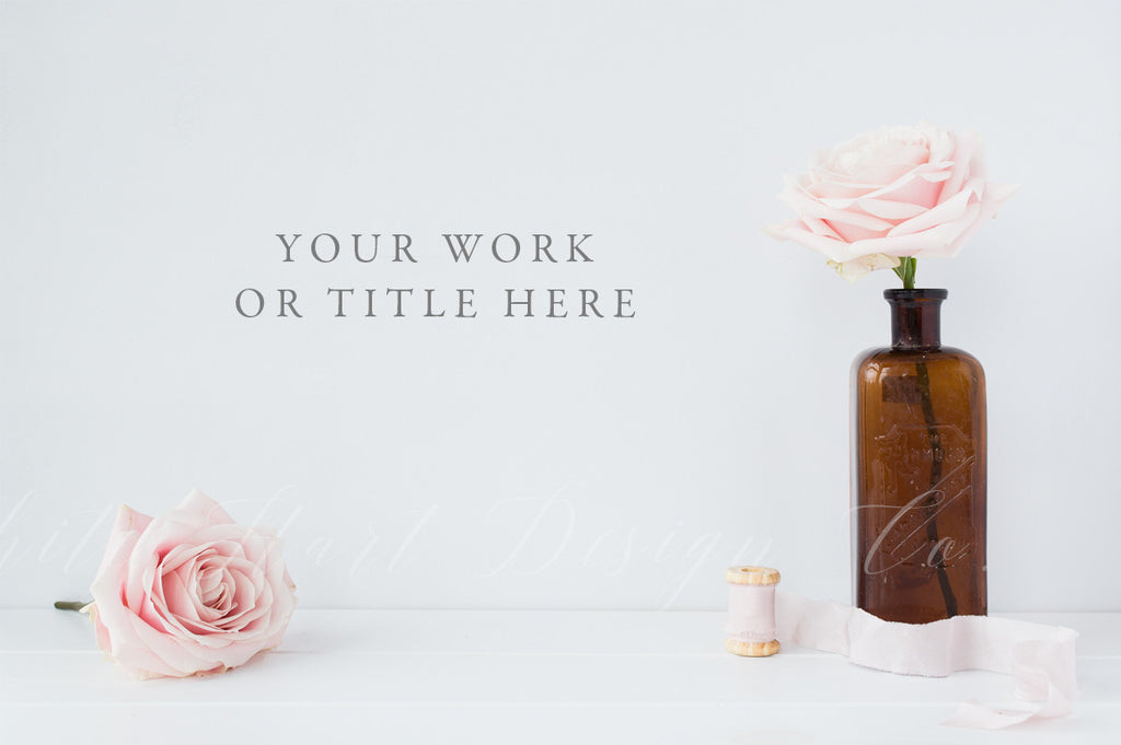 Styled stock photography - Floral styled wall mock up - High Res Jpeg file