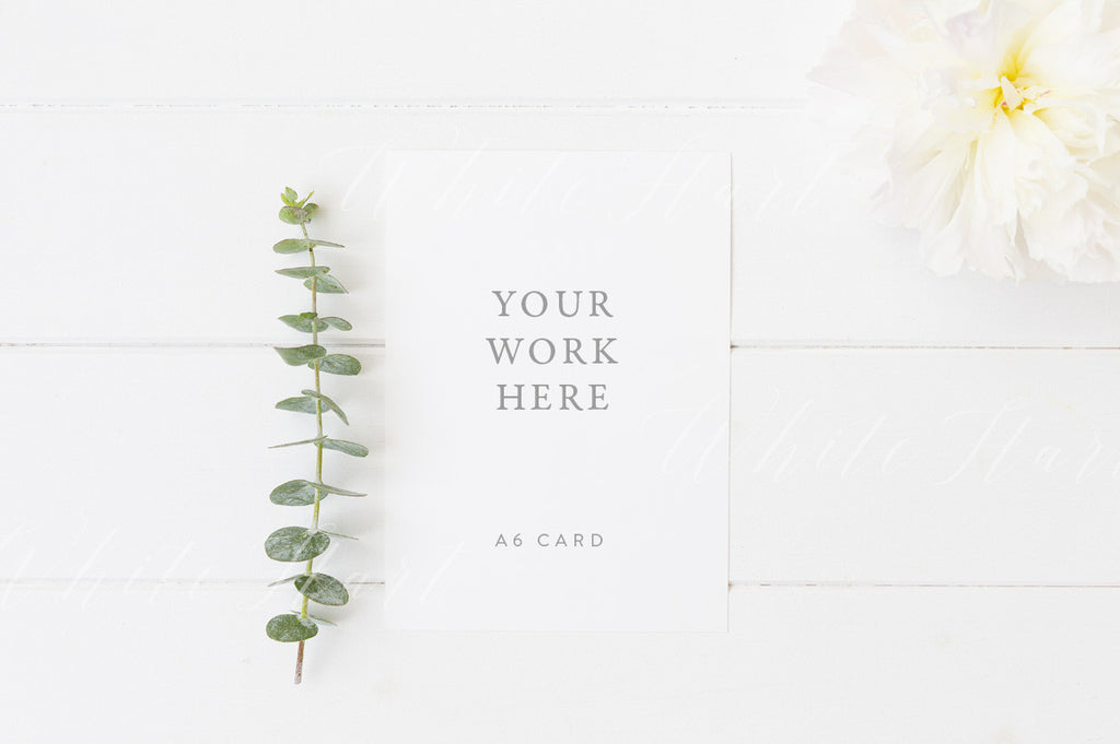 5x7 floral card mock up