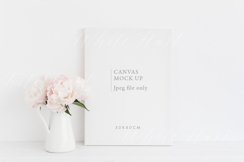 Canvas floral mock up - Jpeg file only - 30x40cm