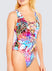 Frenzy Lace Up One Piece