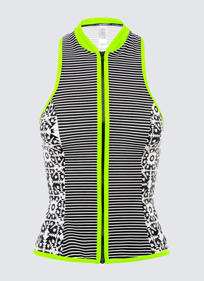 Splice Zip Front Rash Vest