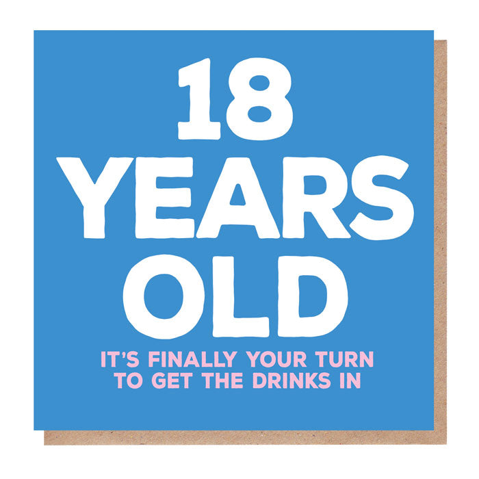 funny 18 Years Old Birthday Card