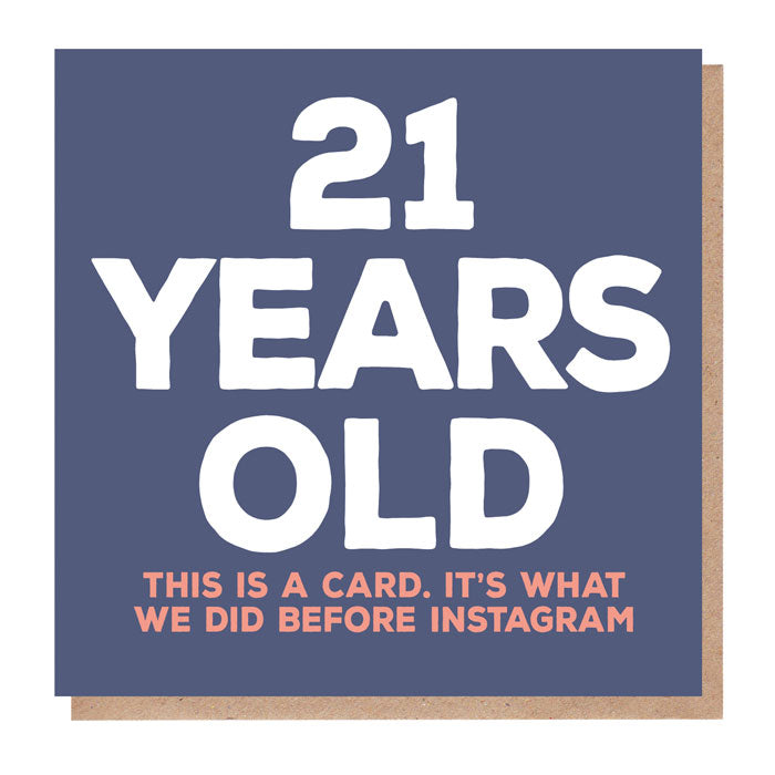 Funny 21 Years Old Birthday Card