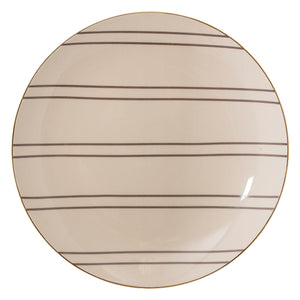 Striped Stoneware Plate