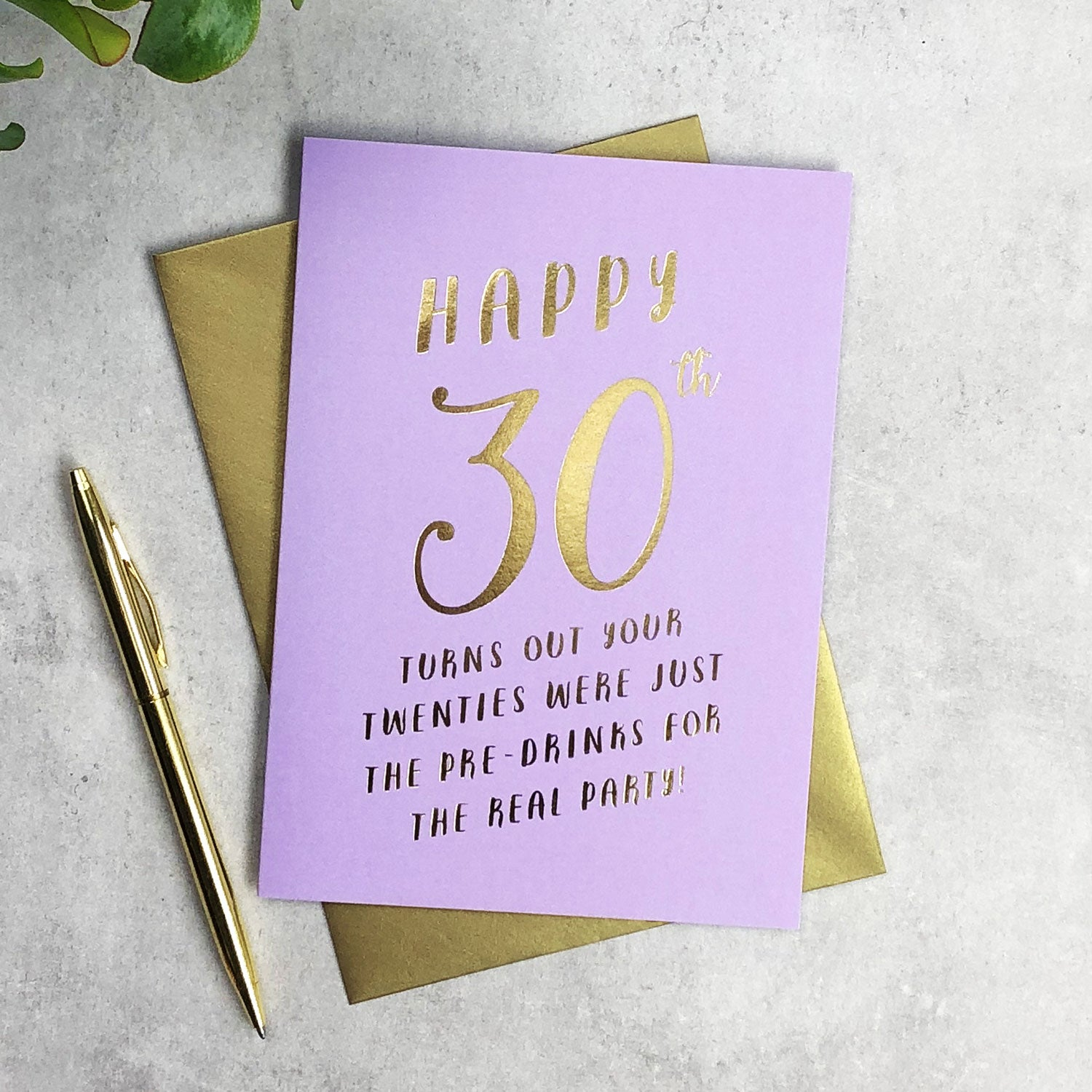 Funny 30th Birthday Pre-drinks card