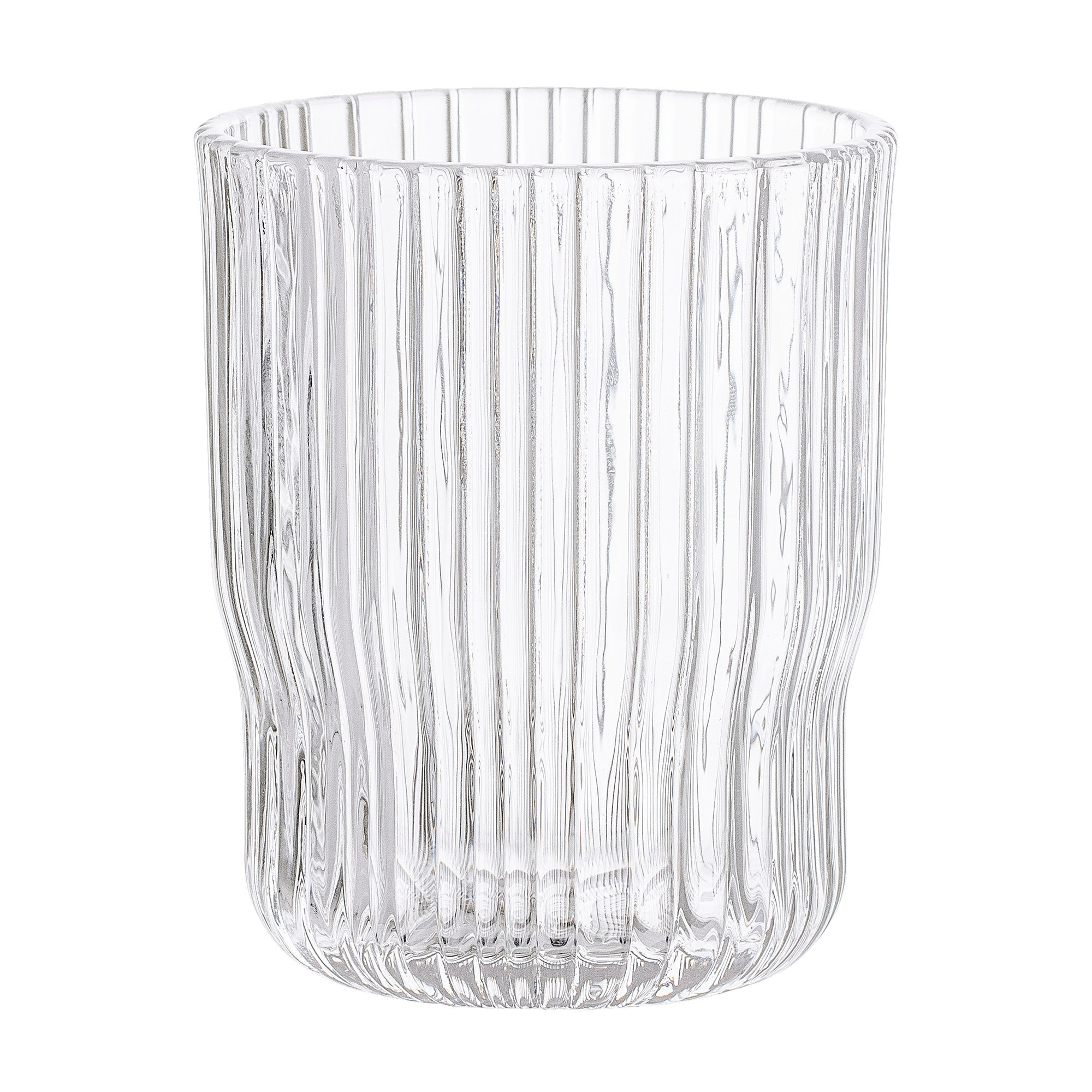 Ribbed Clear Drinking Glass